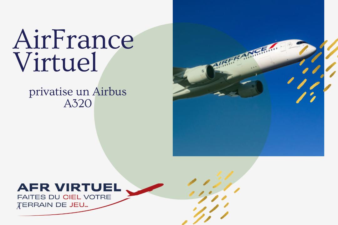 AirFrance Virtuel privatise un Airbus A320